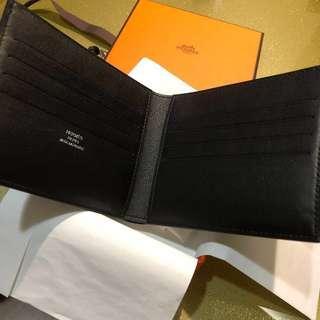 BNIB Hermes Citizen Twill compact wallet