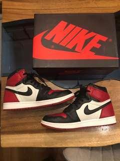 🚚 Air Jordan 1 Bred toe