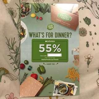 55% Off HelloFresh Meal Plan