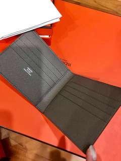 BNIB Hermes Men's Wallet Etoupe colour in epsom leather