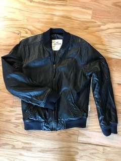 Hollister Faux Leather Bomber Jacket