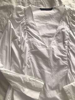Zara ruffled top