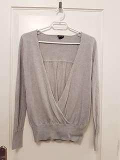 Club Monaco Merino Wool wrap sweater xs