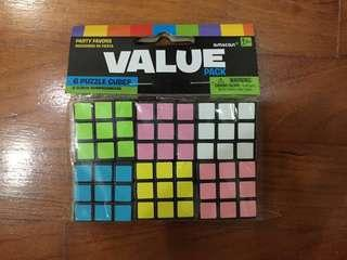 6 Puzzle Cubes Value Pack New (Rubik's Cube)