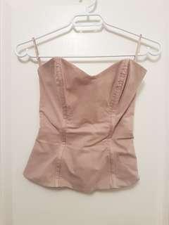 French Connection nude/beige bustier. xs.