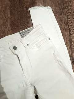 ALL SAINTS white skinny jeans. Size 24/25