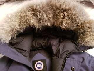 Authentic Canada Goose youth large in blue