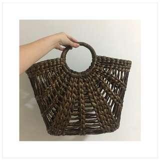 BN Rattan Basket Bag