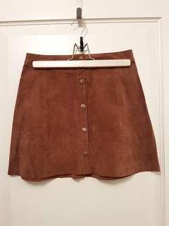 Genuine leather skirt. Size xs