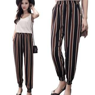 Black and Brown Striped Culottes
