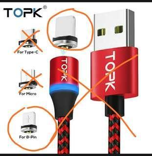 TOPK Tip Magnetic Lightning Speed IPhone 8-Pin Tanpa Kabel