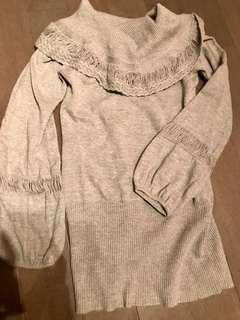 Guess Marciano balloon sleeve sweater dress