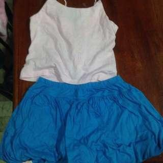 Tops and skirt set preloved
