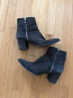 Michael kors Grey suede booties size 9