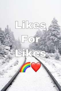 Likes for likes 🌈🌈