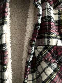shearling lined flannel