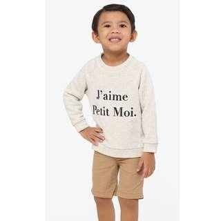 J'aime Petit Moi Jumper (Kids) in Light Gray