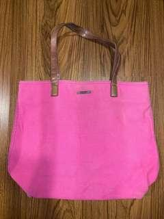 Authentic Mango Tote/Beach Bag Pink