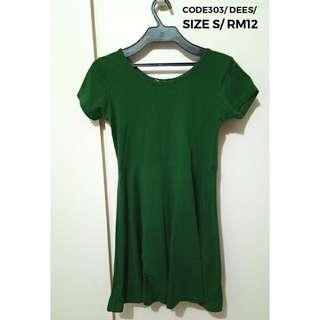 🌟SALE🌟DEES Green Skater Dress #303
