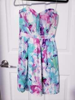 Parker Silk Dress Watercolor Size XS