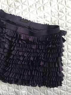 Pink Tartan Purple Silk Mini Skirt