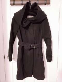 Zara Wool Coat with Willow Hood Size S