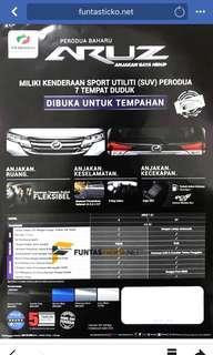 New Perodua ARUZ : The new New Sport Vehicle from Perodua