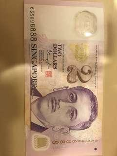 2 dollar note