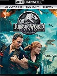 Jurassic World The Fallen Kingdom 4k uhd & Blu-ray