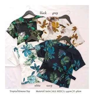 Tropical kimono crop