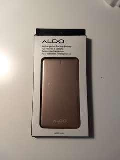 Aldo's rose gold phone charging block