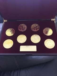 Rabbit year gold coins set.
