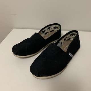 Black Toms (Size 7)