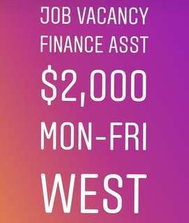 (IMMEDIATE POSITION) Finance Assistant