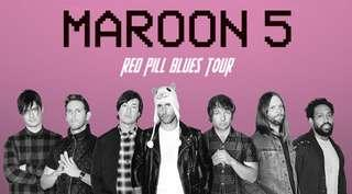 *Maroon 5 (CAT2) 2 tickets for $350 (below cost)