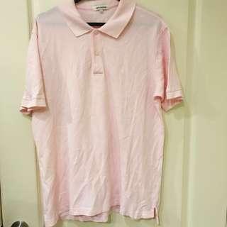 🚚 NET近全新-粉紅Polo衫