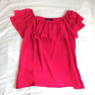 [CNY Special] Red Off Shoulder Top