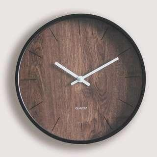 Modernist Minimalist Wood Wall Clock Home Decor