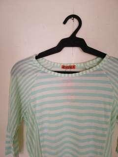 Striped green long sleeves