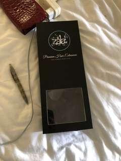 5 piece dark brown/black hair extensions