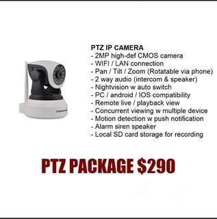 Ptz camera cctv installation package