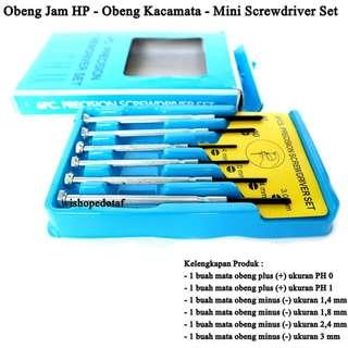 Obeng Set Screwdriver Mini