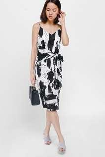 Love Bonito Dalrene Printed Sash Tie Midi Dress