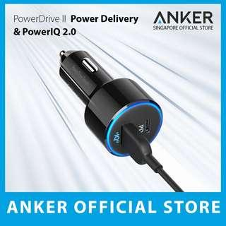 [Power Delivery + PowerIQ 2.0] Anker 49.5W PowerDrive Speed+ 2 Car Charger