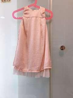 🚚 韓系女童氣質洋裝(韓國購買.氣質微亮面)