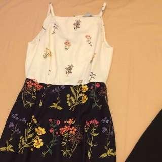 Knee Length Flowery Dress