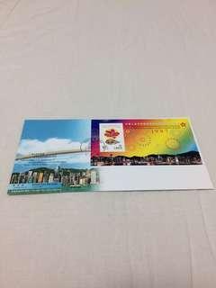 (Brand New, Original) 香港特別行政區成立紀念品 首日封 01july1997  郵票 stamp (Straight Version) 董建華簽名 香港郵政發行  (全新,直板)  香港🇭🇰出品  Made in Hong Kong 🇭🇰. Happy 2019