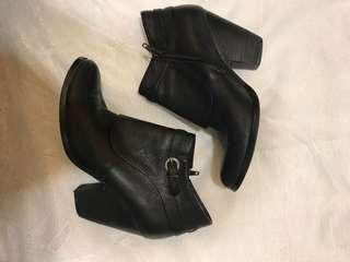 Size 6.5 Black Leather Ankle Boots