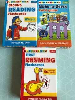 🚚 Letterland flash cards and card games bundle set