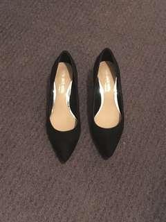 Black kitten heels, worn once